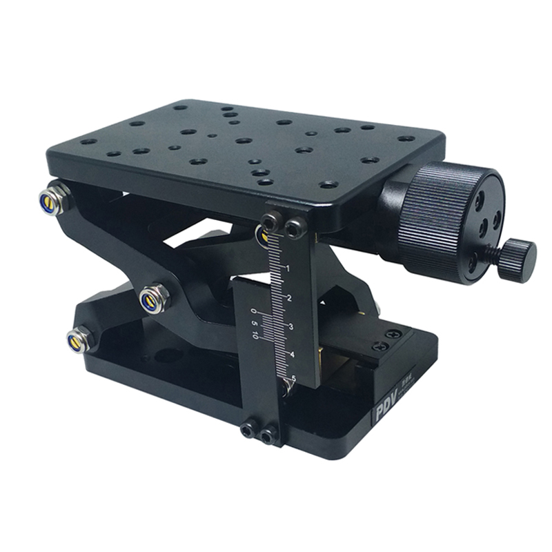 PT-SD408 High Precise Manual Lift,Z-axis Manual Lab Jack,Elevator,Optical Sliding Lift, lifting platform,60mm Travel with Ruler pt 01pb high precision optical flat optical plate optical breadboard aluminum alloy platform
