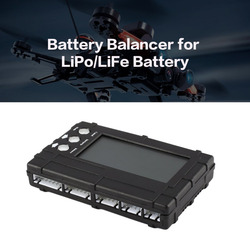 3in1 Battery Balancer LiPo/LiFe 2-6s Balancing Discharger Voltage Meter Tester LCD Screen Register JST Connector for RC Model