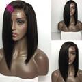 Straight Short Bob Hair Glueless Full Lace Wig Malaysian Virgin Hair Bob Lace Front Human Hair Wigs With Natural Baby Hair