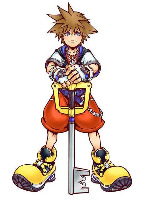 Anime Sword Giant Metal Fantasy The City Kingdom Hearts Sora Key Keyblade Stainless