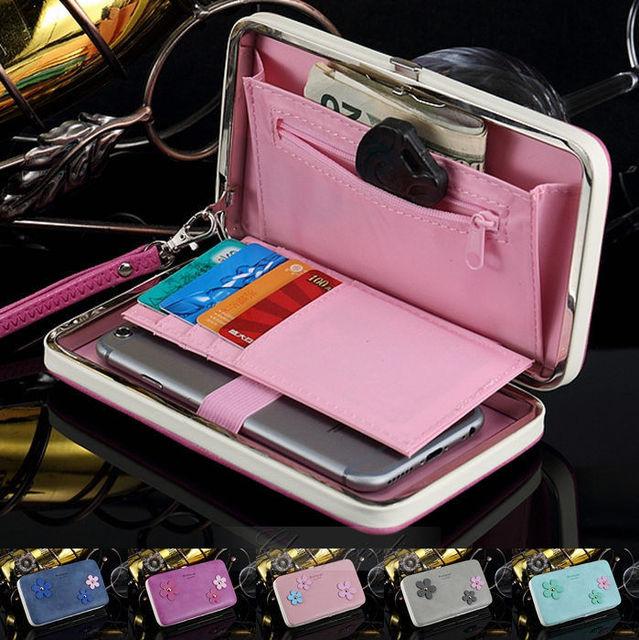 Universal Caixa Cartão Wallet Magnética Capa De Couro Flip Malote Do Telefone Bolsa bolsa para iphone 4 4s 5 5s 6 6 s 6 plus 6 s além de