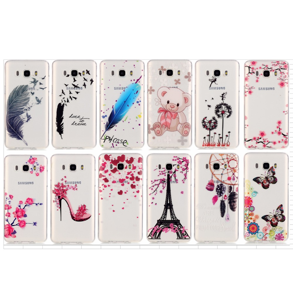 Pretty Diverse Pattern TMD+TPU Phone Case Soft Cover Anti-proof Phone Case For Samsung Galaxy J5 2015 J5 2016 Silicone Case