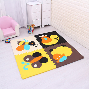 4pcs/lot meiqicool baby EVA Foam Play Puzzle Mat for kids/ Interlocking Exercise Tiles Floor Rug carpet ,Each 60x60cm thick 20mm