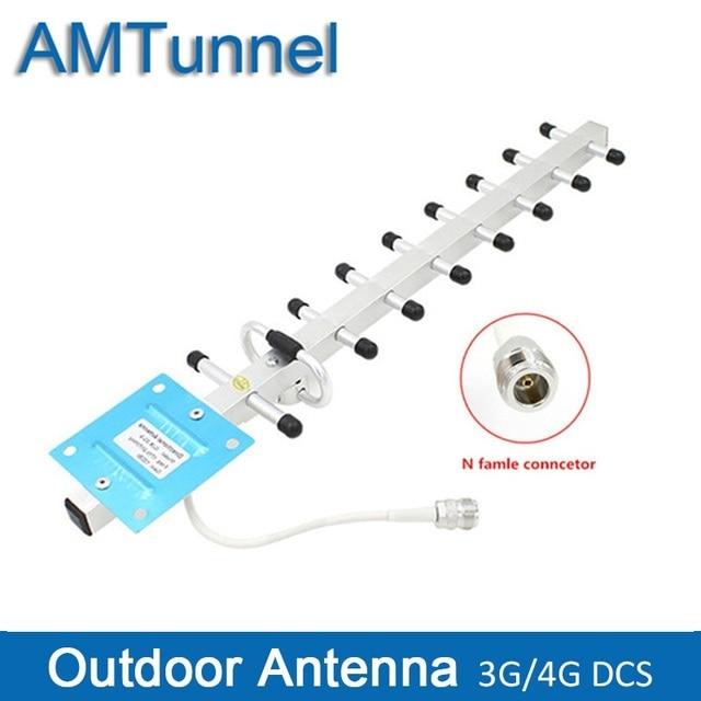 Yagi هوائي 3G yagi في الهواء الطلق هوائي 3g هوائي LTE1800MHz 13dBi 4G هوائي خارجي N أنثى ل مكرر إشارة الداعم