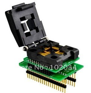 100% NEW IC51-0444-467 QFP44 IC Test Socket / Programmer Adapter / Burn-in Socket(CNV-QFP-MPU51) import block adapter ic51 0562 1387 adapter tsop56 test burn