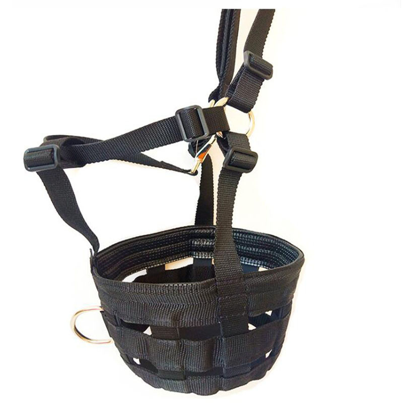 Adjustable PP Woven Belt Horse Mouth Cover Outdoor Anti-Bite Set Rubber Bottom Soft Hard-working Horse Care Product