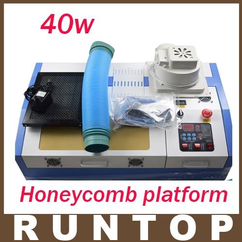 High Quality  40W  200*300mm Mini CO2 Laser Engraver Cutting Machine 3020 Laser with Honeycomb Platform измерительный прибор laser target 150 200 300 300 300