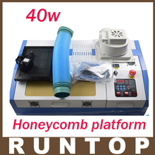 High Quality  40W  200*300mm Mini CO2 Laser Engraver Cutting Machine 3020 Laser with Honeycomb Platform