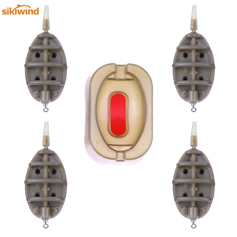 1 Set Carp Fishing Feeder Mould Set Fishing Sinker Fish Tackle Pesca Tool Accessories Inline Outdoor Fishing Method Bait Thrower