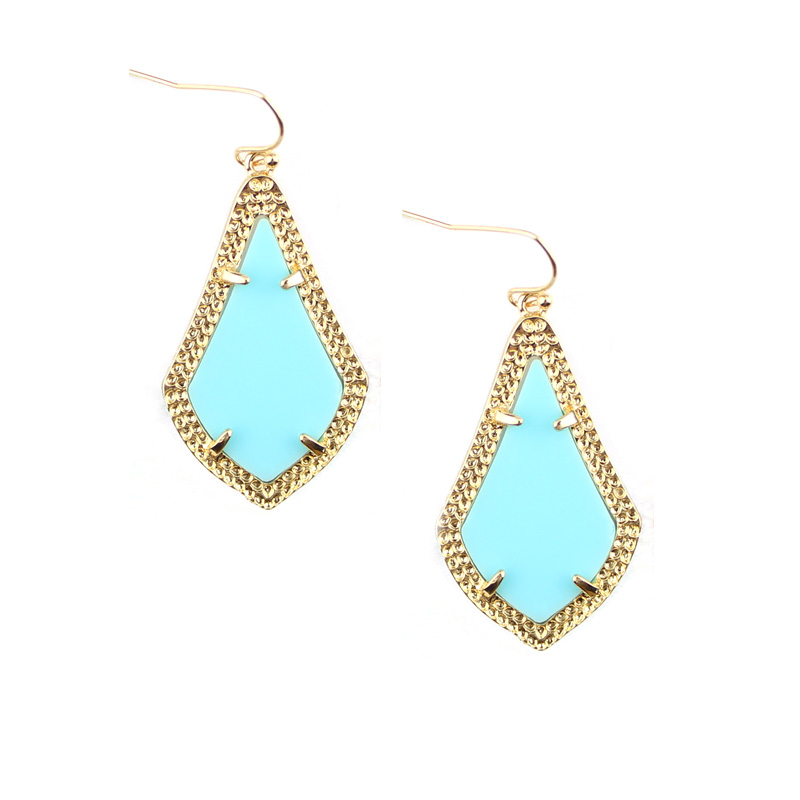 GET IT GIRL Brand Fashion Classic Teardrop Statement Lysekrone Drop Øreringe Gold Claw Berømte Teardrop Smykker Women's Earrings