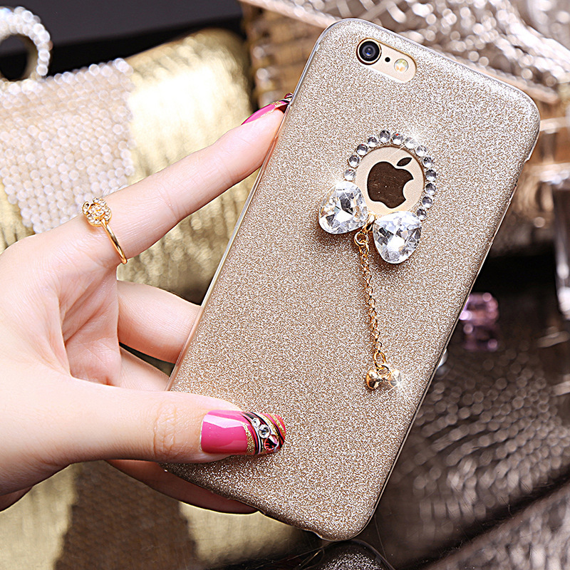 YESPURE Bling Gliter Lovely Bowknot Phone Case Cover Girl for Iphone - Ανταλλακτικά και αξεσουάρ κινητών τηλεφώνων - Φωτογραφία 3
