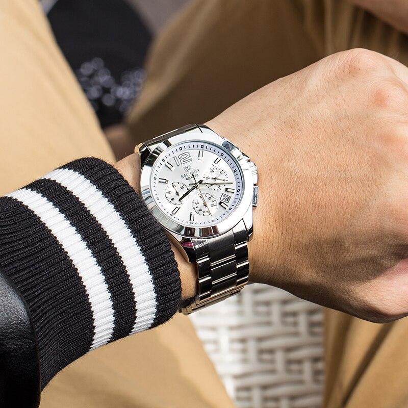42b627f2140 MEGIR Relógio Moda Masculina Marca De Luxo Negócio relógios de Pulso  Cronômetro À Prova D  Água Esportes Relógios de Quartzo Masculino Relogio  masculino em ...