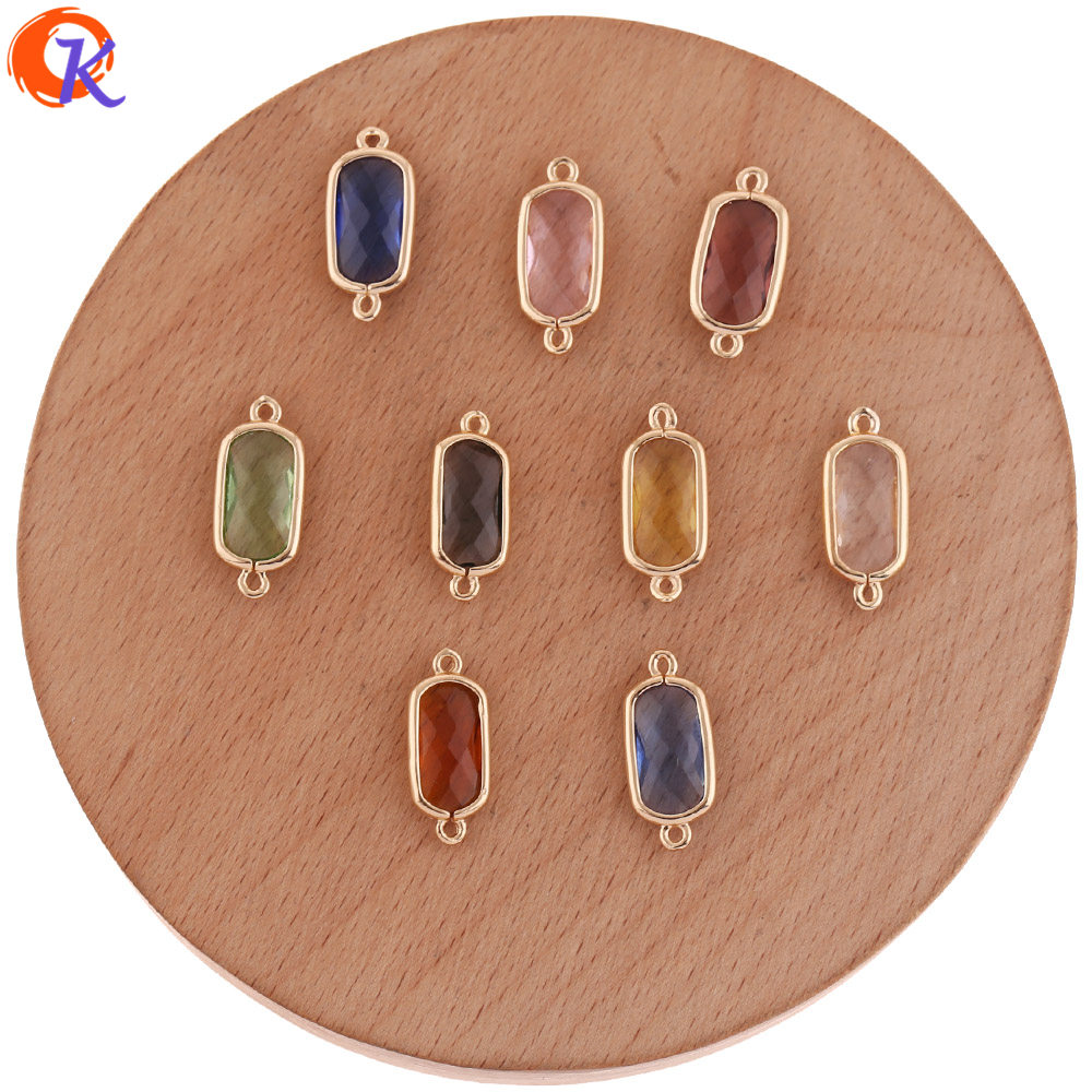 Cordial Design 50Pcs 8*18MM Jewelry Accessories/Charms Jewelry/DIY Earring Making/Crystal Connectors/Hand Made/Earring Findings