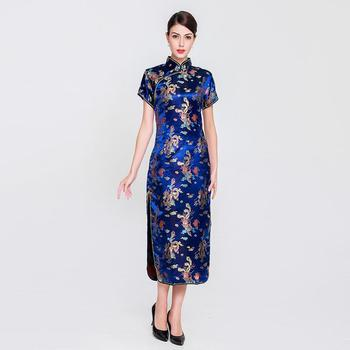 Women New Rayon Slim Long Qipao Chinese Style Dress Elegant Mandarin Collar Cheongsam Female Vintage Vestidos Large Size 6XL new red embroidery flower female modern cheongsam elegant mandarin collar chinese style dress cotton long sleeve qipao l xxl