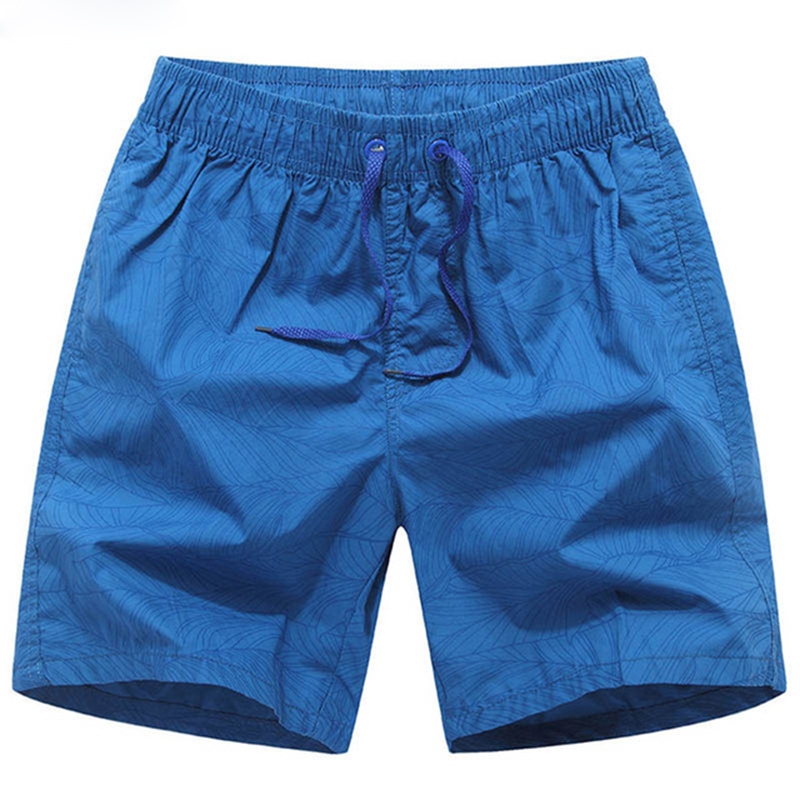 Plus Size 3XL Striped Mens Beach   Shorts   Summer Men's   Board     Shorts   2018 Cotton Breathable   Shorts   Male Good Quality blue   shorts