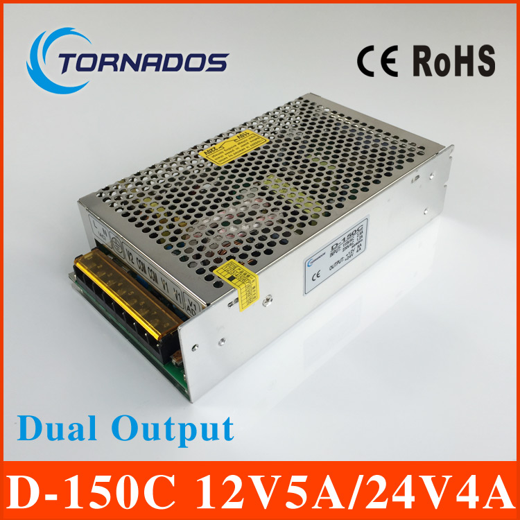 D-150C dual Output Switching power supply 150W 12v5A 24v4A ac to dc power supply 12V 24V OEM/ODM прибор для авто oem 3 in1 12v 24v 68050