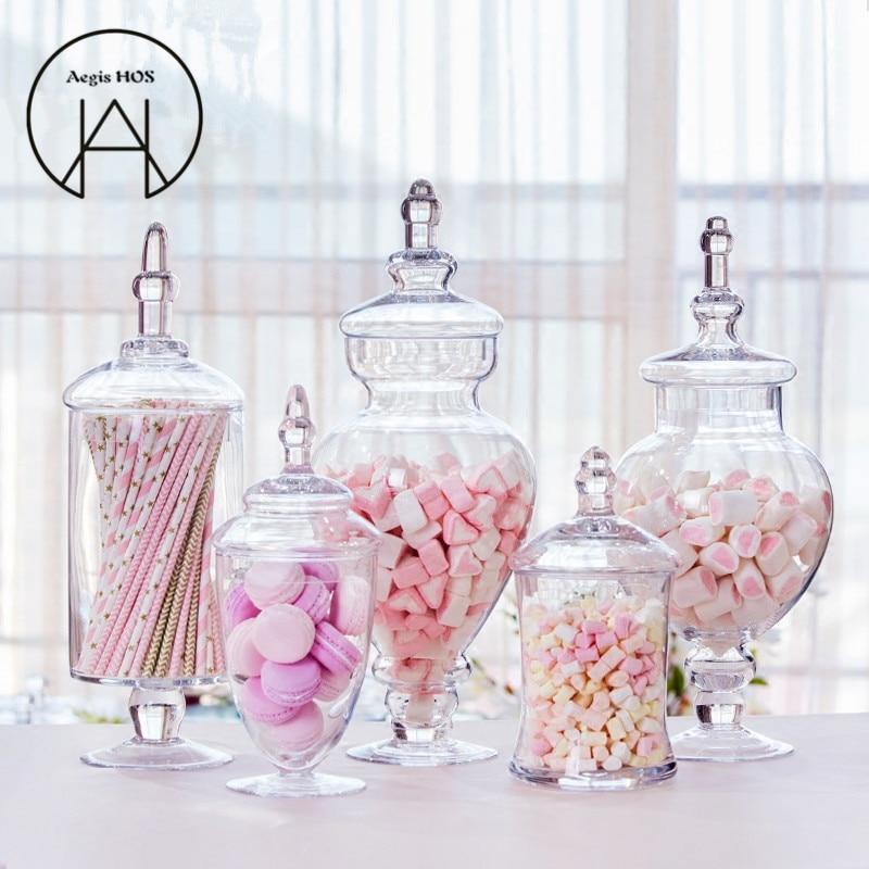 Transparent Candy Jar Wedding Party Table Decoration Dessert