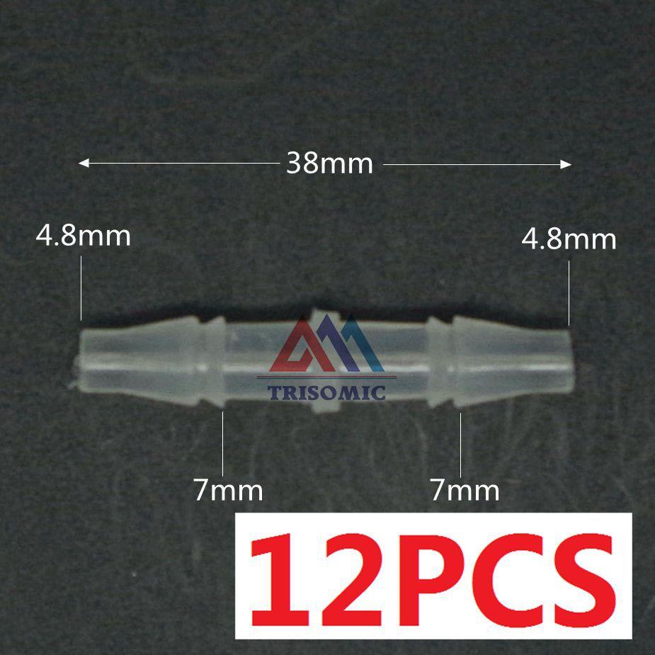 Rohre & Armaturen Rohrverbindungsstücke 12 Stücke 4,8mm Gerade Verbindungskunststoffrohr Fitting Barbed Stecker Pp Schlauch Pvc Rohr Joiner Fitting Aquarium