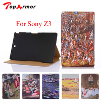 Toparmor� ony z3 caseファッション絵画� ony xperia z3 compact tabletカバー:アート塗装パターンタブレットcase