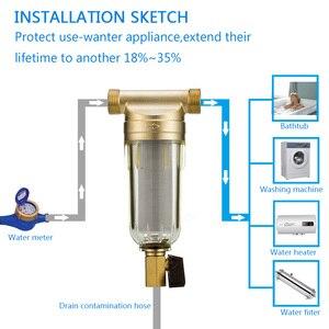 "Image 4 - Prefilter מים מסנן צעד ראשון של מים מטהר מערכת 40 מיקרון נירוסטה רשת prefiltro 3/4 ""כל בית מראש מסנן"