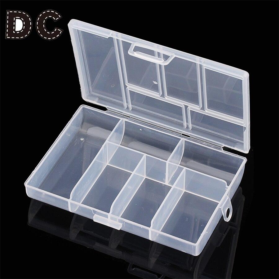6 Slots Jewelry Tool Box Organizer Storage Beads Box Jewelry Finding Boxes Plastic Packaging Boxes Jewerly Kit F666
