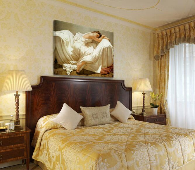 3d wallpaper high-end custom photo mural non-woven wall sticker Sleeping Beauty painting 3d wall room murals wallpaper