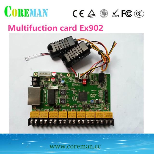 LINSN multifuction חיישן כרטיס EX901 EX902D בהירות טמפרטורה ולחות חיישן LINSN בקר כרטיס