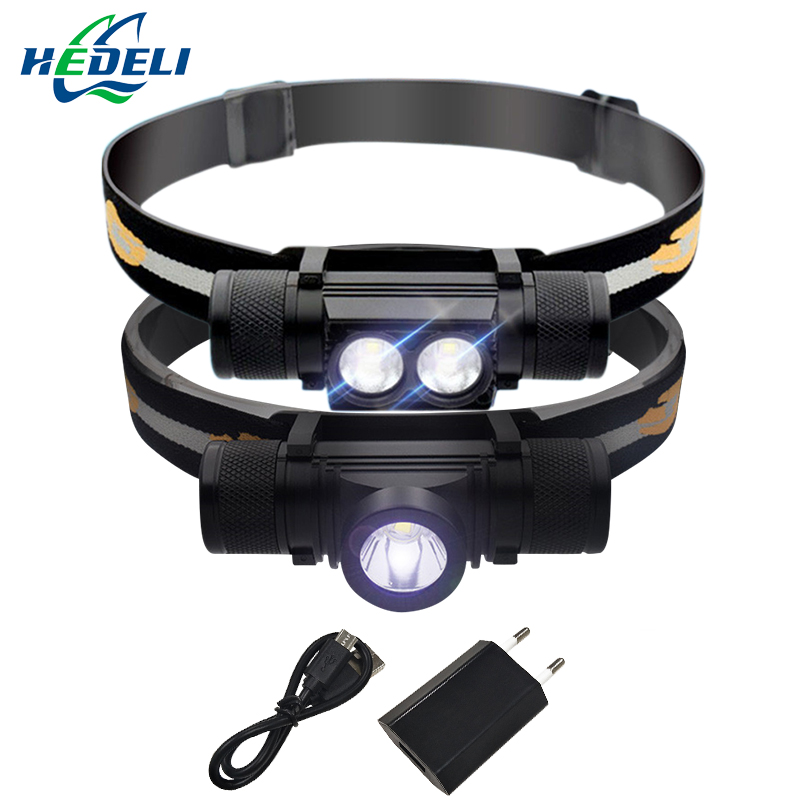 xm l2 camping lamp head flashlight Head torch led head led headlamp USB headlight waterproof 18650 rechargeable lampe frontale
