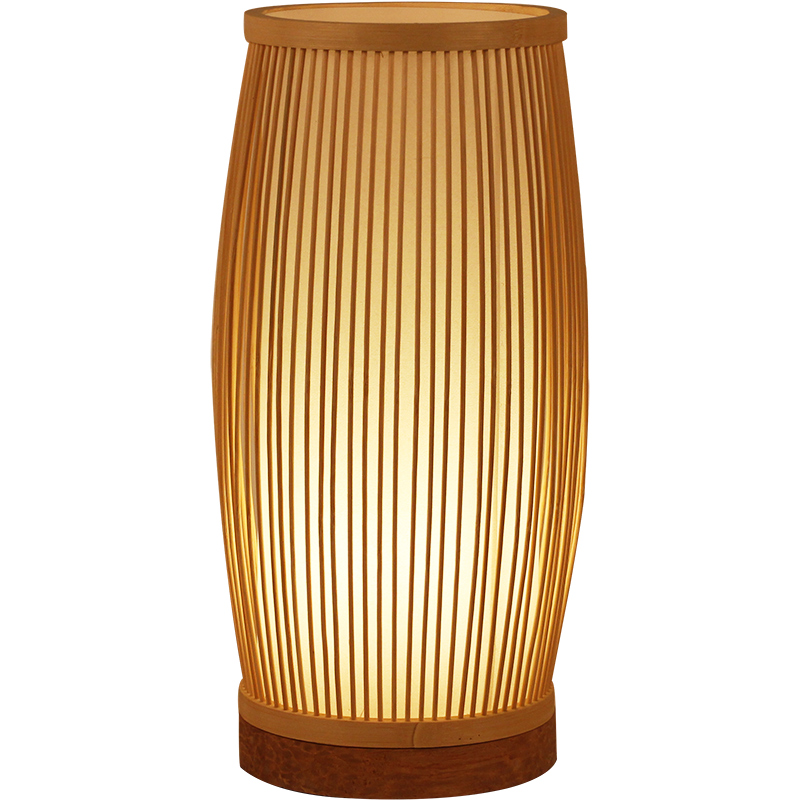 Oriental Bamboo Art Table Lamp E27 Modern Simple Living Room Bedroom Study Restaurant Decoration Night Light Desk Lamp Bedside