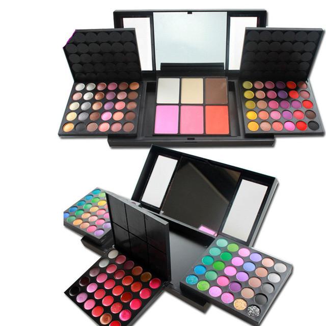Profissional 156 Cores de Maquiagem Cosméticos Set Sombra/gloss/blush/fundação pó facial mulheres beleza Paleta de Maquiagem Kit