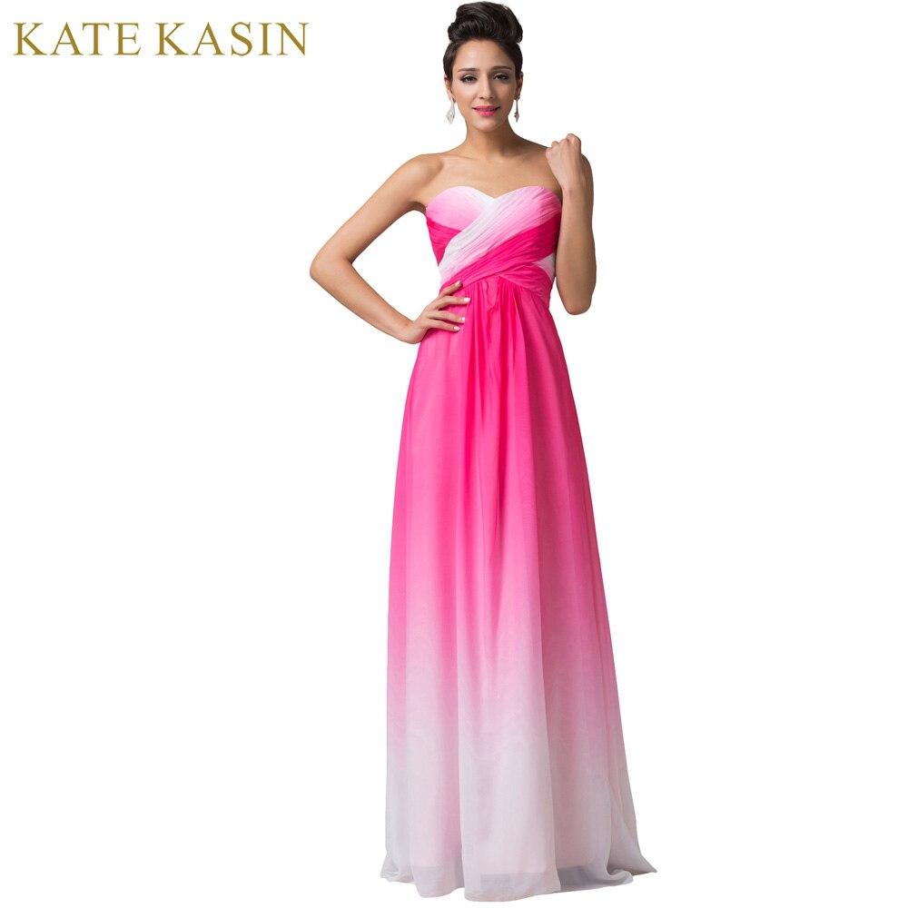 Vestido de festa Design A Line Green Red Blue Ombre Evening Gowns ...
