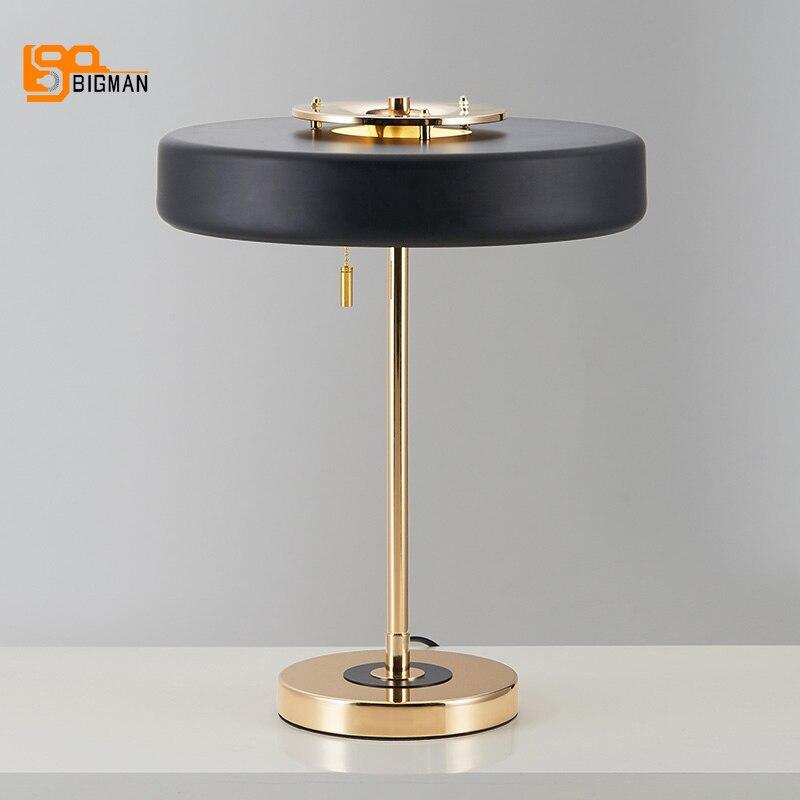 Einfache Stil Wohnzimmer Tischleuchte Weiss Schwarz Tafellamp Moderne Nachttischlampe Geben Verschiffen Frei