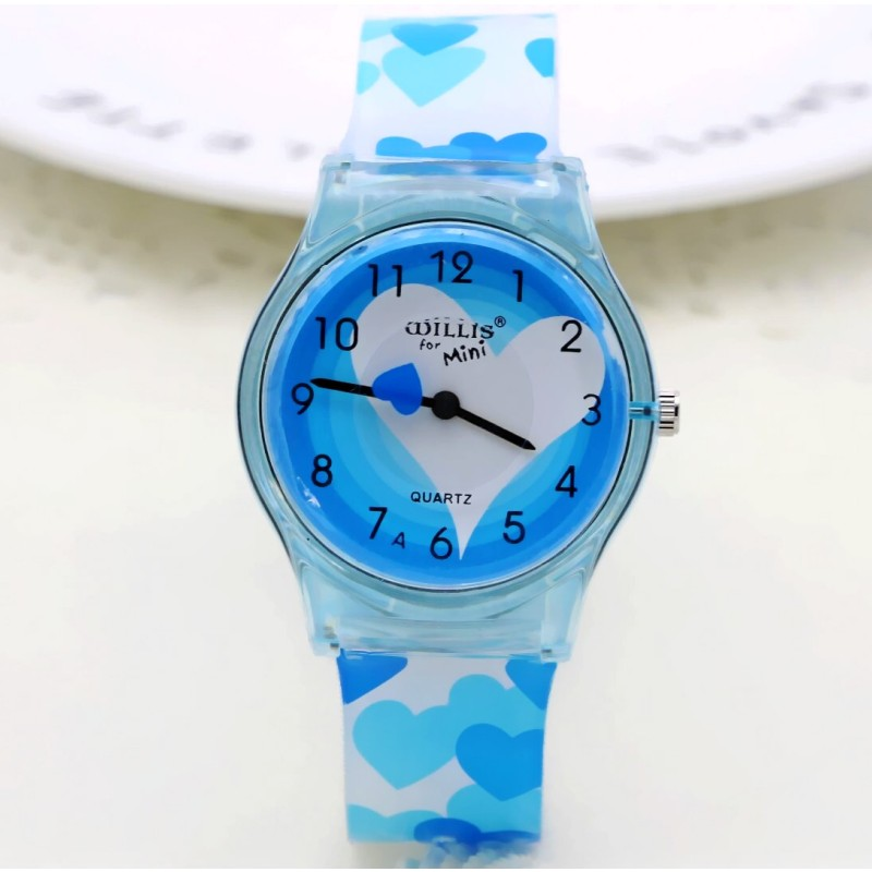 2019 WILLIS Summer New Brand Children Students Fashion Quartz Watches Kids Soft Waterproof Sports Heart Butterfly Wristwatches