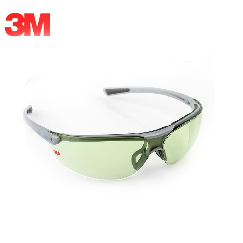 3M 1790G Anti-shock Anti-UV Windproof Safety Goggles Lightgreen Lenses Eyes Protective Glasses KM003 3m 1711 safety protective glasses anti shock windproof anti uv lightweight riding eyewear goggles g2305