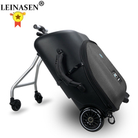 Lazy rolling luggage baby car cabin travel suitcase trolley case on wheels for kids sit on luggage carry ons labor saving box