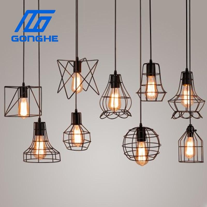 Ceiling Lights & Fans Pendant Lights Vintage Pendant Lights Loft Pendant Lamp Retro Hanging Lamp Lampshade For Restaurant /bar/coffee Shop Home Lighting Luminarias