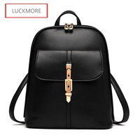 2016 Fashion Design PU Leather Women Brand Backpack Casual School Bags For Teenagers Girls High Quality Female Travel Back Packs