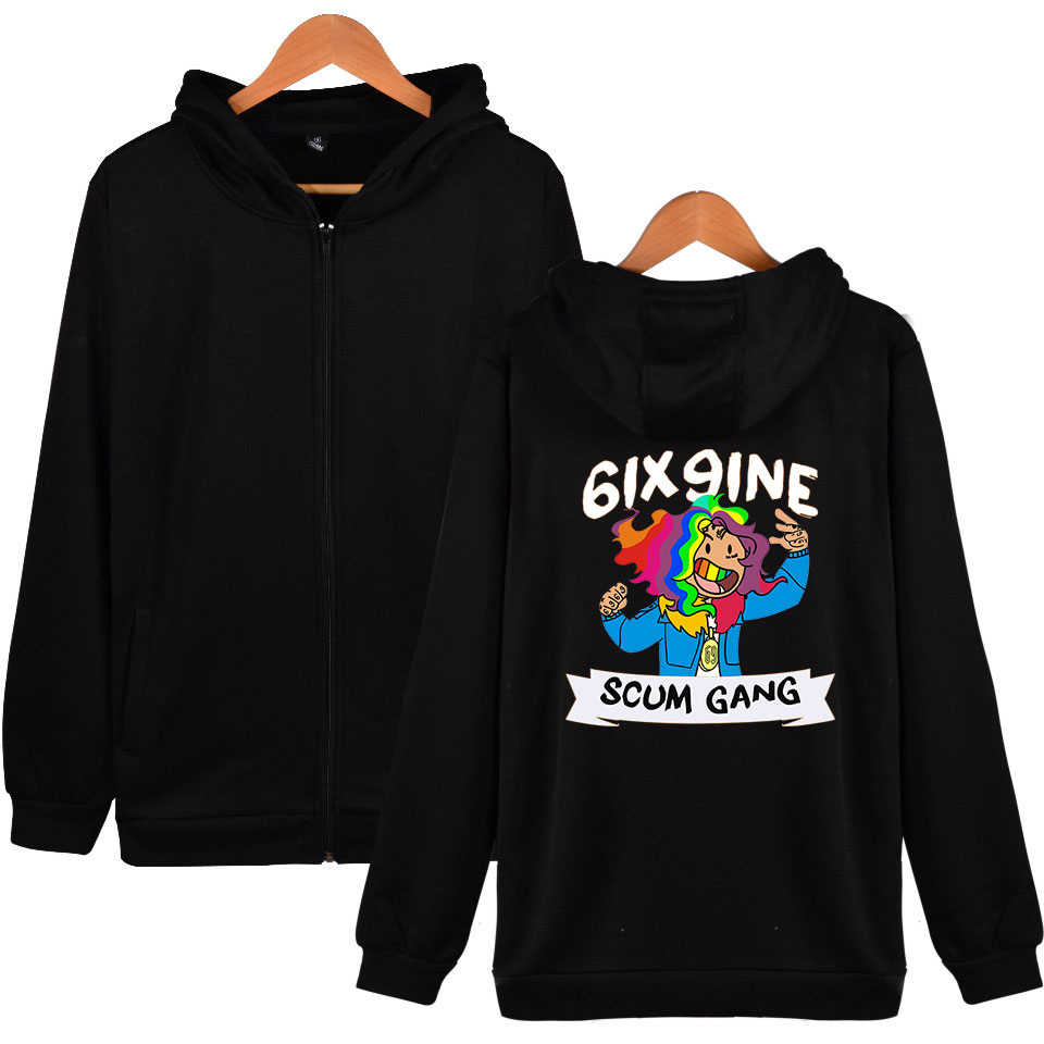 28efe909ec22f Detail Feedback Questions about New Rapper Rap Hip Hop Hoodie Streetwear 6ix9ine  Hoodies Rapper Tekashi69 Jacket Coats Men Long Sleeved Pullovers Tops Plus  ...
