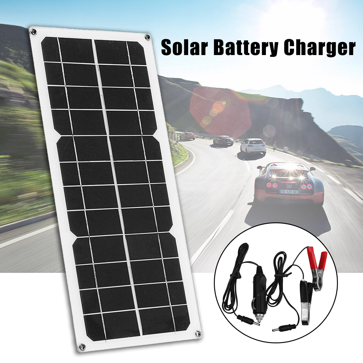 цена на 10W 12V Solar Panel for Boat Roof RV Car Battery Charger Flexible Mono Module