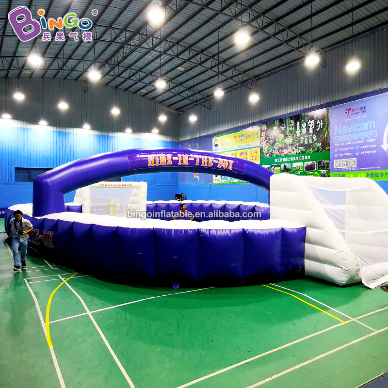 HIGH QUALITY PVC 18x12x4mh inflatable blue football court air loading soccer pitch customized advertising practical use for kid