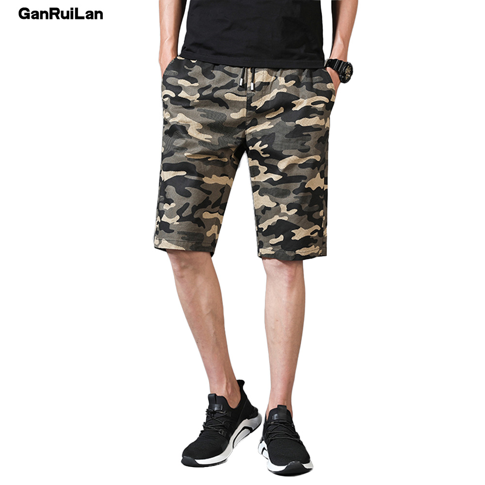 2019 New Cargo Shorts Men Summer Top Design Camouflage Military Casual Shorts Homme Cotton Fashion Brand Clothing DK18009