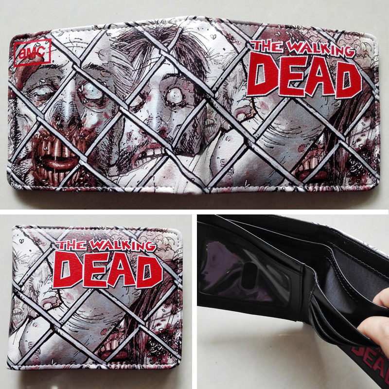 2018 AMC The Walking Dead LOGO 02 wallets Purse Multi-Color Leather Man New W103 2018 movie the terminator t850 skull logo wallets purse multi color 12 cm leather w211