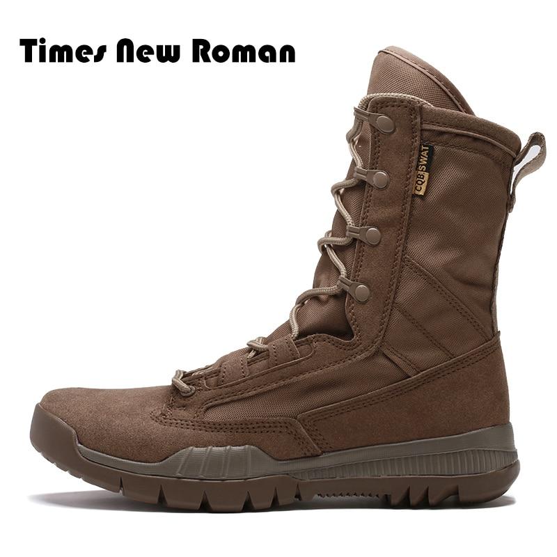 New Spéciale Times 2 Cheville Combat Désert Roman Force 1 En Cuir Travail Hommes Étanche Bottes Chaussures Tactique Militaire Armée De tsQrdh