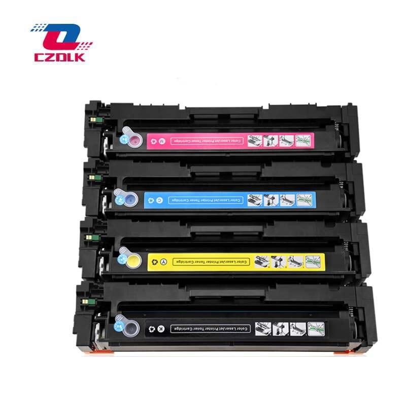 203a Cartucho de Toner novo compatível para HP CF540a CF541a CF542a CF543a M254dw 254nw MFP M281cdw 280nw 45 BK = g, CMY = 40g Sem chip