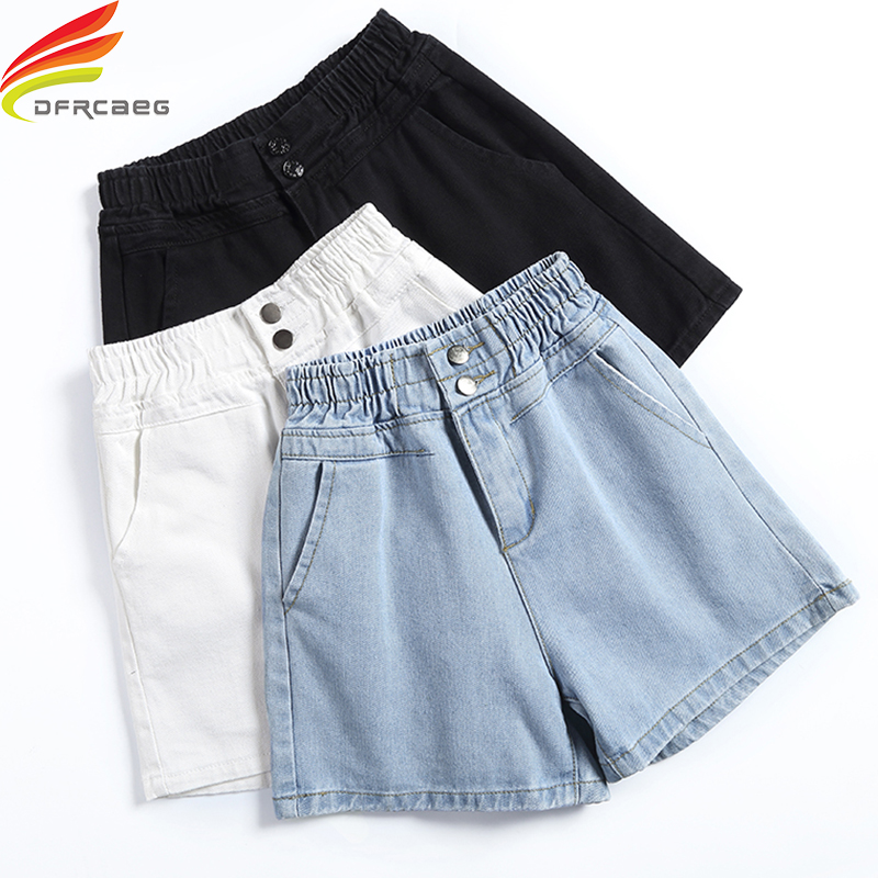 Latest Style Crimping Denim Shorts For Women Free Belt New Jean Shorts Women Summer Street Style Blue And White Woman Shorts