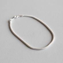 100% 925 Sterling Silver Bracelet For Women 2019 Fashion Snake Chain Bangles Jewelry joyas de plata