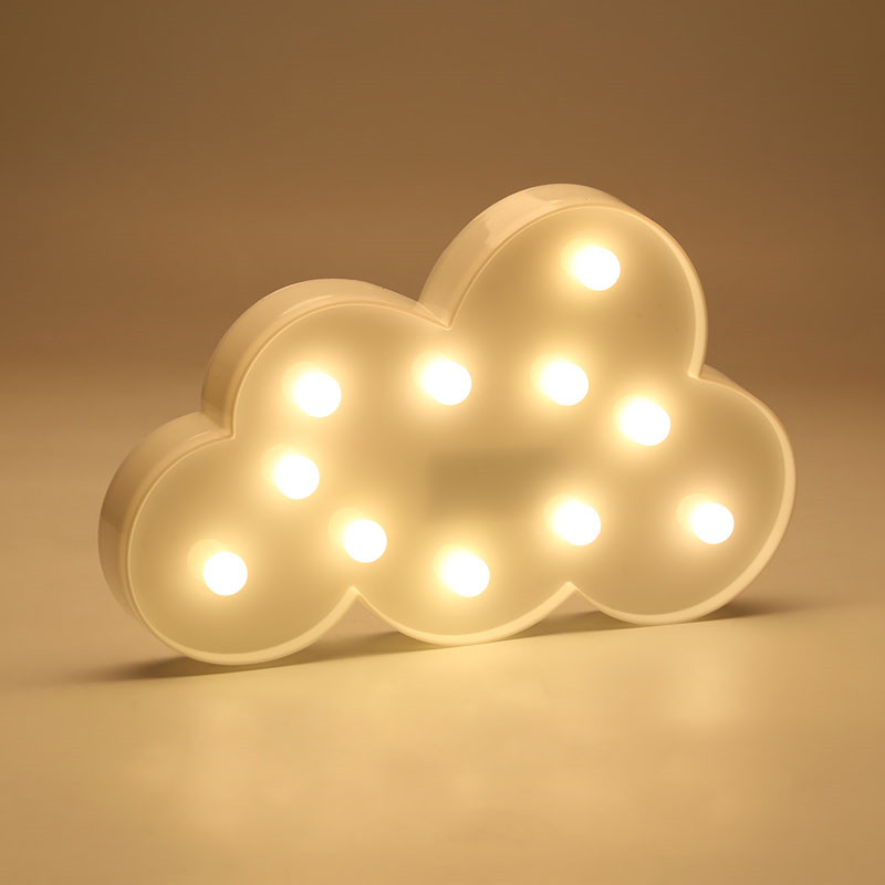 Creative LED 3D Cloud Night Lamp Battery Powered White Cloud Letter Light Home Decor Baby Light For Kids Bedroom Christmas GiftCreative LED 3D Cloud Night Lamp Battery Powered White Cloud Letter Light Home Decor Baby Light For Kids Bedroom Christmas Gift