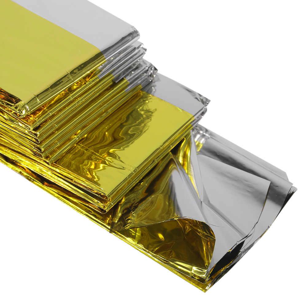 160*210 Cm Khẩn Cấp Chăn Cứu Sinh Cách Nhiệt Chống Nắng Chăn Vàng Bạc Đôi Màu Hàng Mới Về