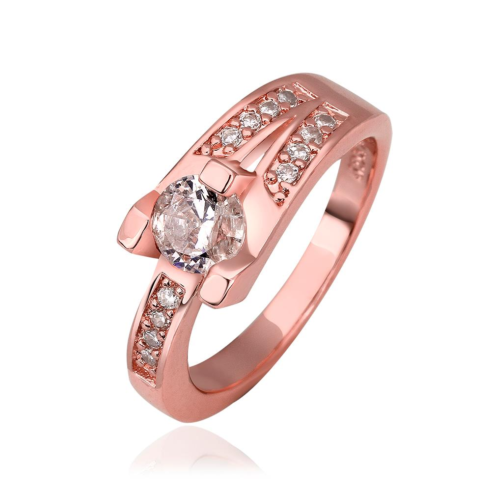 XU Fashion Upscale Atmosphere Zircon Ablaze Double Rings Women\'s ...
