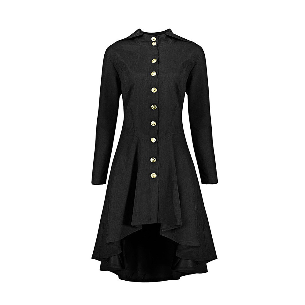 2018 Fall Gothic Vintage Casual Office Lady Plus Size Women Long   Trench   Coats Loose Hooded Plain Button Pocket Bow Green Coats